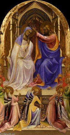 Lorenzo Monaco - Incoronazione della Vergine (London), pannello centrale della pala di San Benedetto - 1407-1409 - The National Gallery, Londra