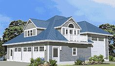 This large RV Garage was designed to complement the Grand Island ...
