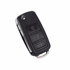 1 Pcs 3+1 Buttons Remote Key Shell Case and Flip Uncut Blade Replacement For VW Volkswagen Touareg High Quality