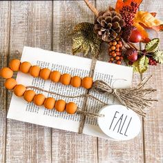 Fall Farmhouse Beads // Fall Farmhouse Home Decor // Farmhouse Home Decor // Wood Beads // Personalized Home Decor // Fall Home Decor – The Best Ideas Wood Bead Garland, Beaded Garland, Garlands, Thanksgiving Decorations, Christmas Decorations, Holiday Decor, Thanksgiving Ideas, Seasonal Decor, Holiday Ideas