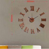 Nalepovacie nástenné hodiny, MPM 3777, 60cm Black Dots, Black Silver, Diy Clock, Cladding