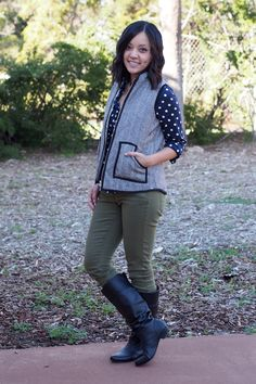 Putting Me Together: Polka Dots and Herringbone Vest