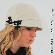 Cloche hat pattern - Women's Sewing Pattern.  Hat Sewing Pattern.  by GinaReneeDesigns, $8.75