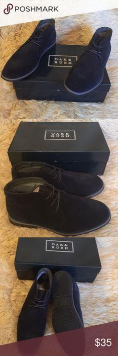 NIB Blue OAK & RUSH Men's Chukka Boots, size 10.5 NIB Blue OAK & RUSH Men's Chukka Boots, size 10.5.  Lace up Boots w/ high top design.  Burnished upper. Oak & Rush Shoes Chukka Boots