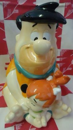 Fred/Pebbles Flintstone cookie jar bhas box