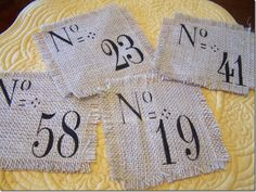 Burlap Coaster Sets!  Great gift idea, may have to try to make these!