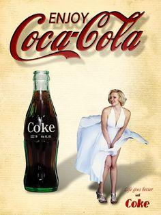 """Képtalálat a következőre: """"coca cola poster girl"""" Coca Cola Poster, Coca Cola Ad, Always Coca Cola, World Of Coca Cola, Coca Cola Bottles, Retro Ads, Vintage Advertisements, Vintage Ads, Vintage Coca Cola"""