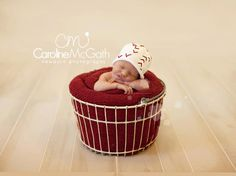 Boston Beanies Baseball Hat, Knit Cotton Baby Hat great photo prop. $28.00, via Etsy.