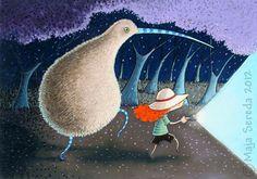 """Kiwi bird adventures"" by Maja Sereda"