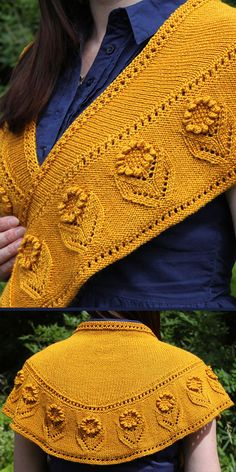 Knitting Pattern for Summer Blooms Shawl – knitting patterns Knitting Short Rows, Loom Knitting, Baby Knitting, Knitted Shawls, Crochet Shawl, Crochet Yarn, Knitted Flowers, Shawls And Wraps, Couture