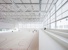 Completed in 2017 in Pozuelo de Alarcón, Spain. Images by Javier Callejas. . Designed for the campus of the Francisco de Vitoria University in Pozuelo (Madrid), the building houses a sports center and classroom complex. It...