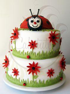 Ladybug Cake - Caketutes Cake Designer: Bolo Joaninha
