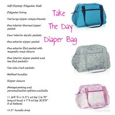 e8dab75eeb96 Take The Day Diaper Bag Baby by Thirty-one