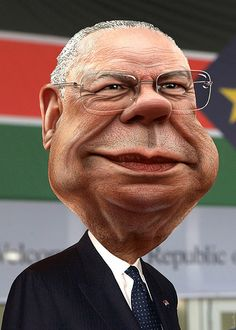 Colin Powell - Caricature