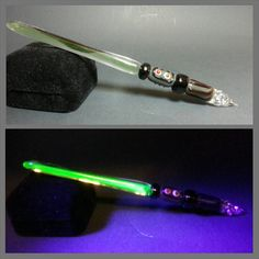 Check out this item in my Etsy shop https://www.etsy.com/listing/230334300/glass-lightsaber-ink-pen