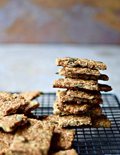 Scandinavian Multi-Seed Crispbread Recipe with A Fragrant Twist - food to glow Savoury Biscuits, Savoury Baking, Crispbread Recipe, Healthy Muffins, Healthy Fats, Healthy Snacks, Baking Recipes, Cookie Recipes, Seed Cookies