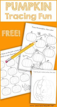 This Pumpkin Theme Tracing Fun printable set is great for Tot School, Preschool and Kindergarten. Work on fine motor skills while tracing pumpkins and jack-o-lanterns. Fall Preschool Activities, Homeschool Kindergarten, Free Preschool, Halloween Activities, Preschool Learning, Toddler Preschool, Classroom Activities, Toddler Activities, Preschool Theme Fall