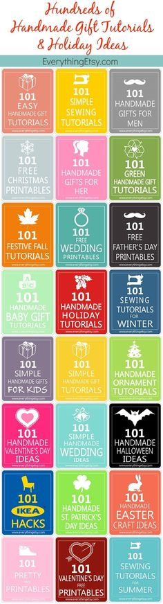 Handmade Gifts Tutorials & Holiday IdeasHundreds of Them! - EverythingEtsy.com #diy #holiday
