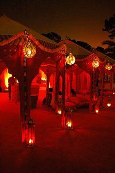 More red! Granted this is from an Indian wedding, I still ♥ the red!in wedding arch, indian wedding mandap, natural mandap Moroccan Tent, Moroccan Party, Moroccan Style, Moroccan Wedding, Arch Decoration, Tent Decorations, Indian Wedding Decorations, Wedding Henna, Wedding Mandap