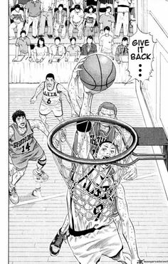 Slam Dunk 273 - Read Slam Dunk 273 Manga Scans Page Free and No Registration required for Slam Dunk 273 Basketball Manga, Basketball Drawings, Manga Drawing, Manga Art, Manga Anime, Anime Art, Kuroko, Slam Dunk Manga, Basket Drawing