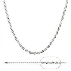 925 Sterling Silver Italian 1.2mm Magic Diamond-Cut Rope Chain Crafted Necklace Thin Lightweight Strong - Lobster Claw Clasp (16, sterling-silver). FREE BONUS: Our beautiful necklace is packaged in a golden box along with a complimentary .925 sterling silver spring clasp. ADVANTAGES: These quality chain necklaces are extremely affordable, unlike those sold in jewelry and department stores. You won't find a better price on silver chains, so you might as well purchase now! With proper care...