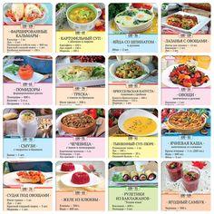 Карточки с диетическими рецептами | Магнитные карточки