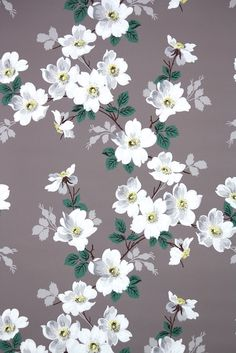 vintage wallpaper available by the yard from Hannah's Treasures on Etsy