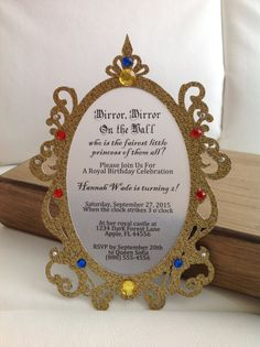 Snow White Inspired Mirror Invitation Set of by ThePolkaDottedRoom