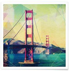 The Bridge en Affiche premium par Mareike Böhmer | JUNIQE