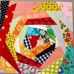 One of my favorite quilt block patterns! Looks great when checkered with solid colored blocks.