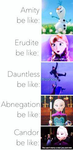 Frozen meets ~Divergent~ ~Insurgent~ ~Allegiant~