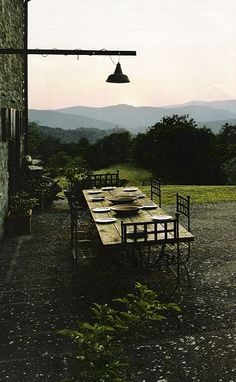 lets have dinner at dusk in the middle of nowhere
