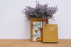A personal favorite from my Etsy shop https://www.etsy.com/listing/228206974/metal-tin-in-mustard-yellow-hand-painted