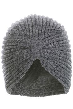 Grey Knitted Turban - I find the shape incredibly flattering Sombrero A Crochet, Winter Warmers, Knit Patterns, Couture, Hand Knitting, Knitted Hats, What To Wear, Autumn Fashion, Winter Hats