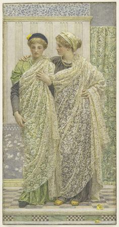 Albert Joseph Moore, Companions, 19th century, Harvard Art Museums/Fogg Museum.
