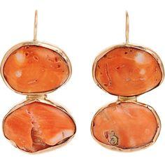 Sandra Dini Orange Coral Oval Drop Earrings ($1,125)