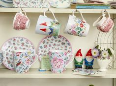 Iconic Cath Kidston mugs on a vintage dresser - the prettiest kitchen | Cath Kidston |