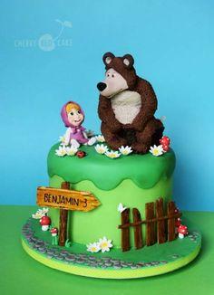 Resultado de imagem para bolo masha e o urso