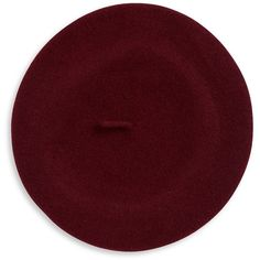 Parkhurst Wool Beret (13275 IQD) ❤ liked on Polyvore featuring accessories, hats, merlot, wool hat, beret hat, parkhurst beret, wool beret and woolen hat