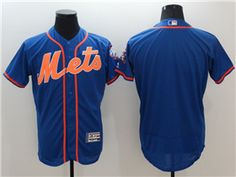 huge discount 2630d 27b76 New York Mets Royal Orange Flex Base Team Jersey