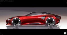 Car Design Sketch, Truck Design, Car Sketch, Exterior Rendering, Exterior Design, Futuristic Cars, Cool Sketches, Car Painting, Transportation Design