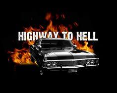 A 1967 Chevy Impala + ACDC lyrics = Supernatural :-D