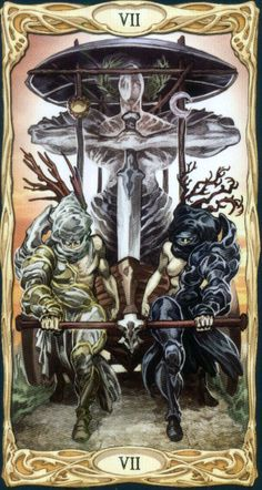 Gallery of Images from Epic Fantasy Tarot Card Deck. Divination Cards, Tarot Cards, The Chariot Tarot, Fortune Telling Cards, Tarot Major Arcana, Shadow Art, Tarot Card Decks, Fantasy Setting, Tarot Readers