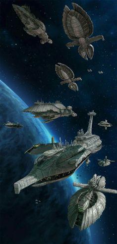 Star Wars RPG - Separatist Fleet by Lukasz Jaskolski