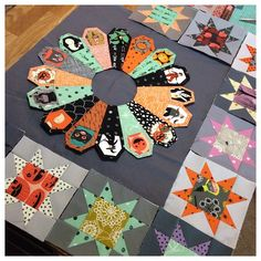 Burning the midnight oil #halloweenquilt by @mypapercrane on Instagram