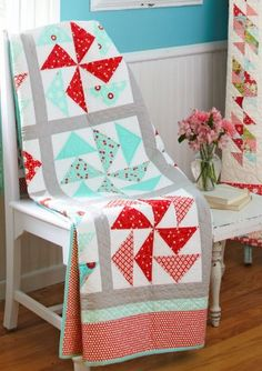 A quick-to-piece, big-block quilt for the quilter on the go.