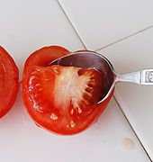 EXCELLENT tutorial on How To Save Tomato Seeds:  any seed that is in enclosed in fleshy pulp needs to have the pulp separated from the seed before it can be dried and stored. The following steps will show you how.