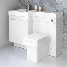 1206mm Olympia Gloss White Drawer Vanity Unit - Belfort Pan