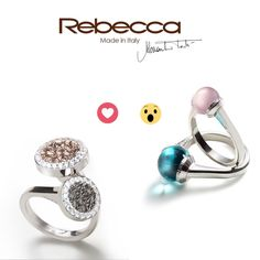 What's the ring for you? Rock and shiny or romantic and colorful?  Check out our #rings!  #rebeccajewels