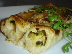 cannellonis courgettes & béchamelau parmesan Moussaka, Cannelloni, Parmesan, Chicken, Meat, Food, Zucchini, Recipes, Kitchens